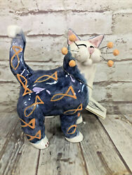Whimsi Clay Cats By Amy Lacombe Ichthus Standing Cat Figurine 21033 New
