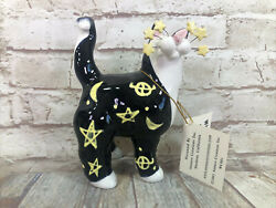 Whimsi Clay Cats By Amy Lacombe Celestial Standing Cat Figurine 21001 New
