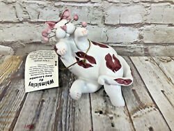 Whimsi Clay Cats By Amy Lacombe Blowing Kisses Cat Figurine 21016 New
