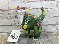 Whimsi Clay Cats By Amy Lacombe Rosette Standing Cat Figurine 21024 New