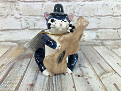 Whimsi Clay Cats By Amy Lacombe Count Bass W Derby Cat Figurine 233531 New