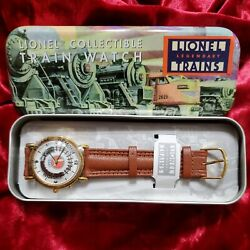Lionel Trains Railroad Track Collectible Train Watch Legendary Gift Tin Nwt