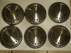 Set 6 Mopar Dodge Police Poverty Dog Dish Caps Centers Hubcaps Real Nice++++++++