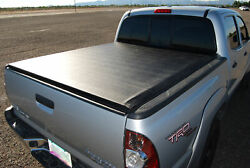 Roll-up Tonneau Bed Cover For 2005-2010 Dodge Dakota Extended/club Cab 6.6ft Bed
