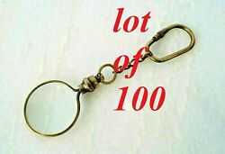 Vintage Brass Magnifying Key Chain Nautical Antique Finish Key Ring Lot Of 100