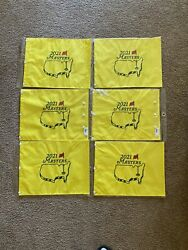 2021 Masters Embroidered Golf Pin Flag Lot Of 6 Flags Matsuyama Wins
