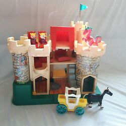 Vintage Fisher Price Little People Castle 993, Pink Dragon Play Set Incomplete