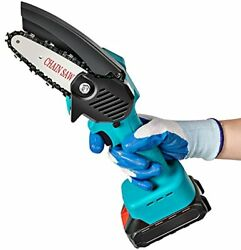 Mini Chainsaw,nolori 4-inch Cordless Chain Saws,hand-held Pruning Portable