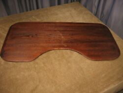 Antique 36 Sewing Table Board C 1900 Bread Board Ends W Inch Marks Yard Stick