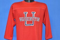 Vintage 70s Washington State University Cougars Jersey T-shirt College Small S