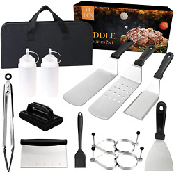 15 Pcs Grill Griddle Accessories Kit Blackstone Barbecue Tools Outdoor Bbq Set