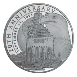 1 Troy Ounce Pure Silver Round - 20th Anniversary Of The 9/11 Attacks