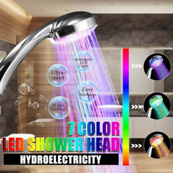 Led Shower Head 7 Colors Changing Shower Head With Light Battery-free Hydropower