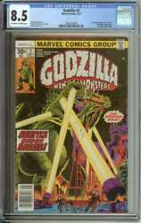 Godzilla 2 Cgc 8.5 Ow/wh Pages // Herb Trimpe Cover 1977