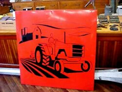 Large Single Sided Allis Chalmers Dealer Tractor Metal Painted Sign 190 Model