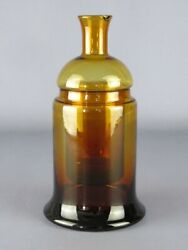 Antique Special Jar For Pharmacy Glass Colour Amber Beginning Xx Century