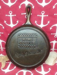 8 10 Lodge Cast Iron Skillet Advertising King Cotton Rightly Seasoned