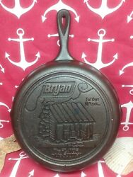 8 10 Lodge Cast Iron Skillet Advertising Bryan The Flavor Of The South Cabin