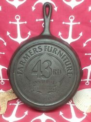 8 10 Lodge Cast Iron Skillet Advertising Farmers Furniture 43rd Anniversary 2