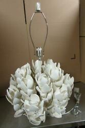 Coco Magnolia Table Lamp By Palecek - Off White Coconut Shell Burlap