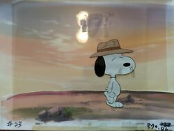 Peanuts Animation Cel And Background Snoopy Spike Charley Brown Bill Melendez An