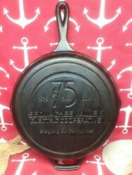 8 10 1/4 Lodge Cast Iron Skillet Advertising Sequachee Valley Electric Co-op