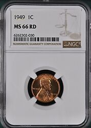 1949 1c Rd Lincoln Wheat One Cent Ngc Ms66rd        6262302-030
