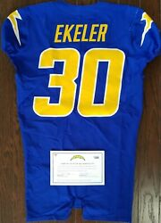 Austin Ekeler Game Worn Gu Photo Matched Nfl Chargers Authentic Jersey Fanatics