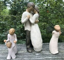 3 Willow Tree Susan Lordi Figurines 9 Promise 5 Thank You And Guardian Angel Lot