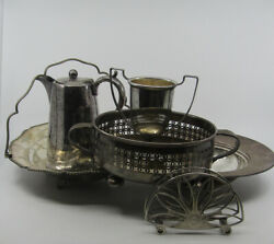 Job Lot Of Silver Plated Antique Vintage Items - Various