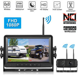 7 Dual Digital Wireless Backup Camera Rear View For Monitor For Trailer Truck