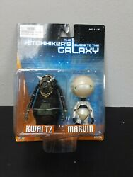 Neca Hitchhikers Guide To The Galaxy Kwaltz And Marvin 3 Action Figure Set Rare