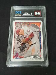 Mike Trout 2014 Topps Series 1 Gatorade Bath Sp Variation Angels Dcs 8.5
