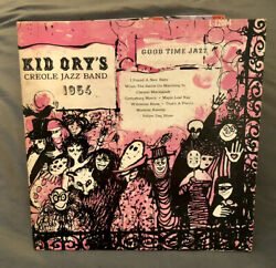 Kid Ory's Creole Jazz Band 1954 Vinyl Lp Vintage Record Good Time Jazz Records