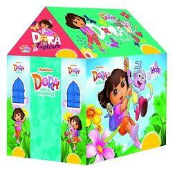 Kids Dora The Explorer Tent House Of Non-toxic Fabric With Led , Multi, 3+ Y
