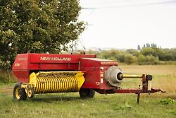 New Holland 376 Baler -andnbspused This Season To Bale 1000 Straw Bales And 1000 Hay