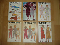 Vintage Butterick Sewing Patterns - 1980s Era - Lot Of 47