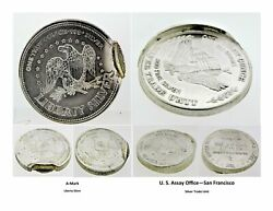 Lot Of Two 1oz 999 Silver Error Coins Trade Unit Round By Us Assay And A-mark