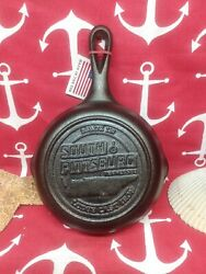 3 6 1/2 Lodge Cast Iron Skillet Advertising South Pittsburgh Tennessee