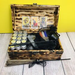 Baby Witch Starter Travel Altar Kit Box Wicca Wiccan Witchcraft Spellwork Spells