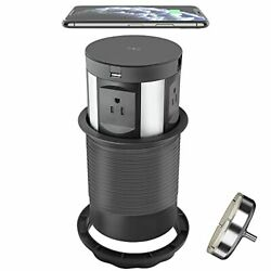 Automatic Pop Up Power Outlet With Wireless Chargercountertop Outlet Pop Up For