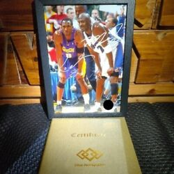 【dhl Express】 Michael Jordan And Kobe Bryant Autograph Photo With Certificate / 10