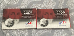 United States Mint Lot Of 2 2009 District Of Columbia Quarter Proof Set