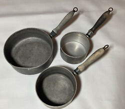 Lot Of 3 Vintage Wearever Aluminum Pots 701 701 1/2 712 1/2 Made In Usa