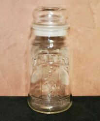 Mr. Peanut Planter's 75th Anniversary Glass Jar With Lid Collectible 8 Tall