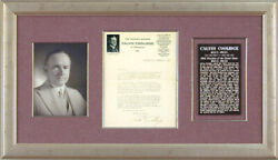 Calvin Coolidge - Typed Letter Signed Circa 1917