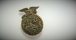 Pre-owned Vintage Ffa Vocational Agriculture Hat Lapel Jacket Shirt Pin