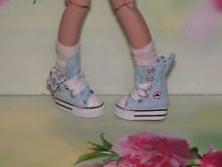 SHOES TO FIT THE TONNER PATIENCE DOLL CUTE LIGHT BLUE TENNIS SNEAKERS