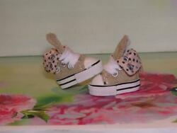 SHOES TO FIT THE TONNER PATIENCE DOLL CUTE TAN TENNIS SNEAKERS