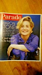 Parade Weekend Magazine Sharon Stone Beauty Of Living Twice March 2021